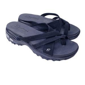 Skechers Black Cali D'Lites Think Fast Sandals 10